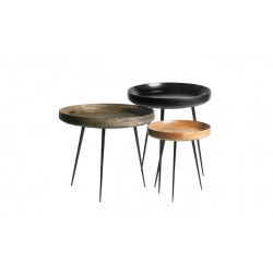 Tables basses rondes Bowl en manguier