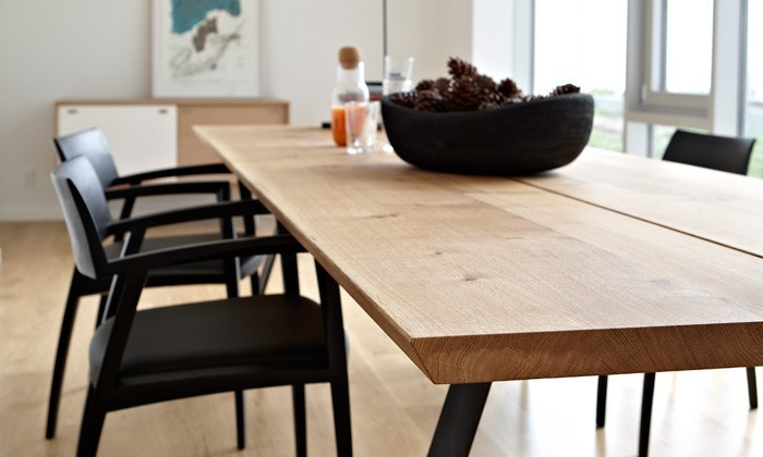 table de salle manger scandinave plank gm3200 bois massif. Black Bedroom Furniture Sets. Home Design Ideas