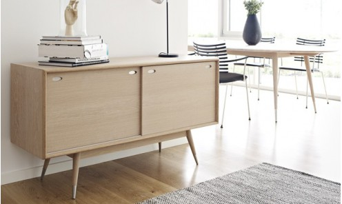 Buffet Scandinave Portes Coulissantes Réversibles Point AK - Buffet porte coulissante