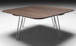 Table basse carrée scandinave Shark de Naver - Noyer