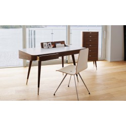 Petit bureau scandinave Point AK1330 - Noyer huilé