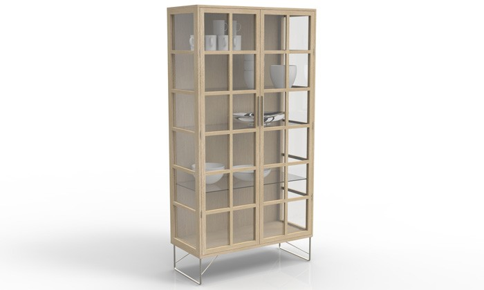 vitrine en bois et verre china de naver. Black Bedroom Furniture Sets. Home Design Ideas