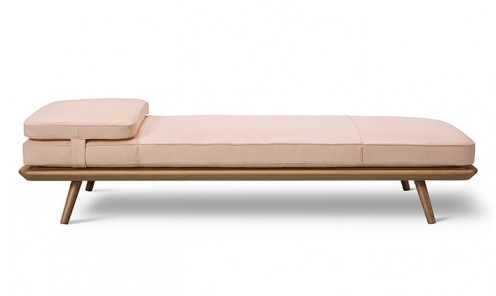 Banquette lounge Spine Daybed - Cuir Natural 90
